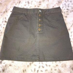 Forever 21 Dark Gray Button Skirt